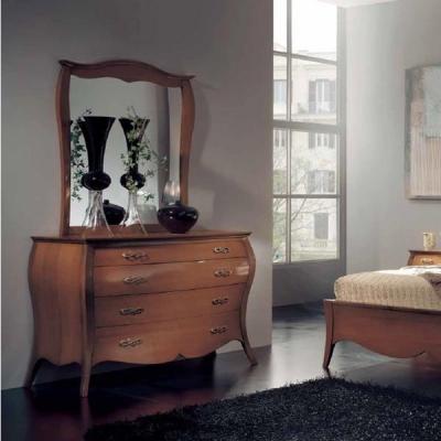 Класически скрин и огледало мод. Zinnia 8454. Производител: Crema Francesco, Италия.   Класически италиански мебели за спалня -