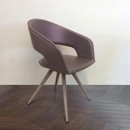 Модерен луксозен италиански трапезарен стол с тапицерия. Модел Arena, производител Antonello, Италия. Метална структура тапицира