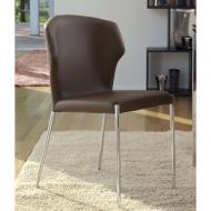 Модел Vale - трапезен стол с кожена тапицерия, хромирани или изцяло тапицирани крака. Производител: Antonello, Италия. Трапезарн