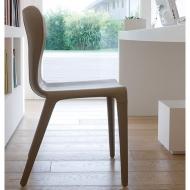 Модел Vittoria - изцяло тапициран трапезарен стол. Производител: Antonello, Италия. Модерни италиански трапезни кожени столове