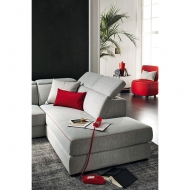 Модерна модулна мека мебел с изцяло сваляща се текстилна тапицерия. Модел Astor. Le Comfort, Италия. Италиански мебели - дивани,