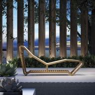 Шезлонг модел Infinity, производител Atmosphera, Италия. Дизайнерски шезлонг от тиково дърво.