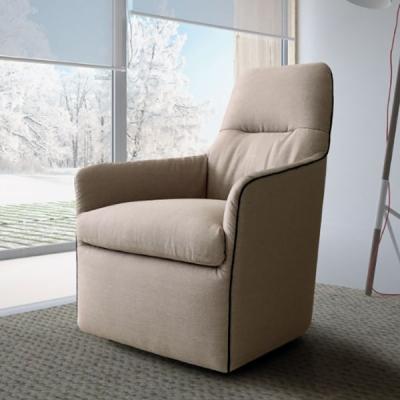 Bangkok, Le Comfort. Модерно италианско кресло със сваляща се дамаска.