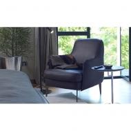 Мод. Boheme- луксозно кресло с кожена тапицерия. Производител: Cierre imbottiti, Италия.