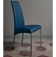 Модерен тапициран италиански стол за трапезария. Модел Aida, производител Bontempi, Италия. Метална основа и богат избор на дама
