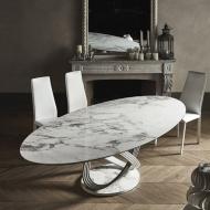 Италианска модерна маса за трапезария. Модел Fusion, производител Bontempi, Италия. Висок клас трапезарна маса. Метална лакирана