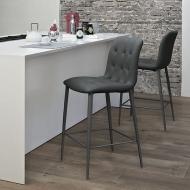 Италиански модерен тапициран бар стол модел Kuga, производител Bontempi, Италия. Разнообразие от цветове.