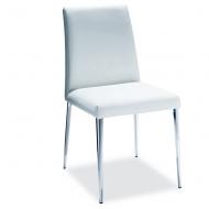 Модерен луксозен трапезарен стол с кожена тапицерия. Модел Mila, производител Bontempi, Италия. Висок клас италиански столове за