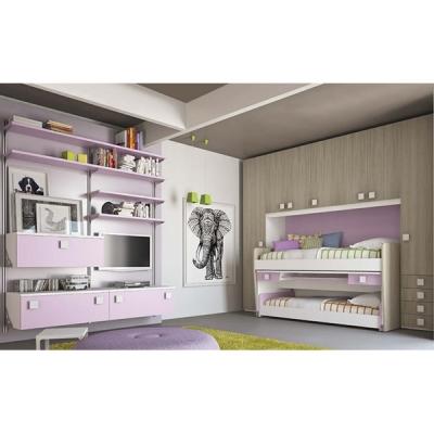 Модерно италианско обзавеждане за детска стая. Колекция Eresem, C22 от Colombini, Италия. Италиански мебели, аксесоари и осветле