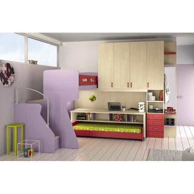 Италиански мебели, аксесоари и осветление за детски стаи. Колекция Eresem, композиция C35 от Colombini, Италия. Модерни италианс