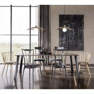 Стол за трапезария модел Aurora - метална рамка и тапицирана седалка. Производител: Cantori, Италия. Луксозни италиански трапезн