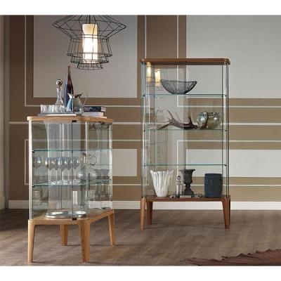 Луксозна стъклена витрина с осветление модел Chantal. Производител - Cattelan, Италия. Модерни италиански мебели от стъкло- витр