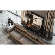 Луксозна кожена мека мебел. Модел Margot, производител Cierre, Италия. Модулна холна гарнитура от масив, метал и естествена кожа
