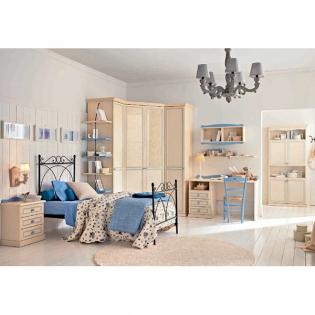 Обзавеждане за детски и юношески стаи. Колекция Arcadia от Colombini, Италия. Композиция AC10. Класически модулни мебели, аксесо