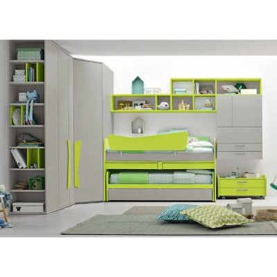 Модерно обзавеждане за детска стая колекция Golf, композиция C501. Производител Colombini, Италия. Италиански мебели детска стая