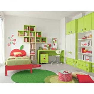 Модерни и класически мебели за детска стая. Колекция Golf, композиция C525 от Colombini, Италия. Италиански мебели за детска ста