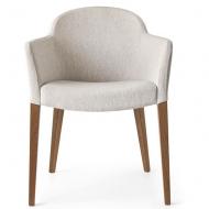 Модерен стол за трапезария и всекидневна модел Gossip. Производител: Connubia, Италия. Италиански модерни тапицирани столове с п