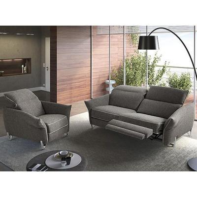 Модерна модулна мека мебел с механични или електрически релакс механизми модел Giro от Rigosalotti. Италиански модерни мебели с