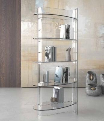 Модерна стъклена витрина. Progetto Design International. Модерни италиански мебели от стъкло - витрини, маси, холни маси, скрино