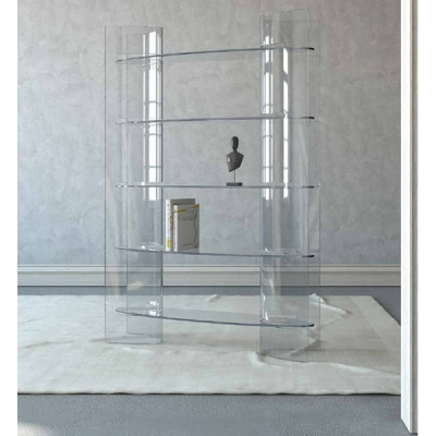 Стъклена витрина модел LB04. Progetto Desig, Италия. Модерни италиански мебели от стъкло - витрини, маси, конзоли, скринове, хол