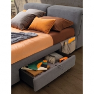 Модерна тапицирана спалня с механизми за облягане модел Apollo, производител LeComfort, Италия. Богат избор от текстилни и кожен