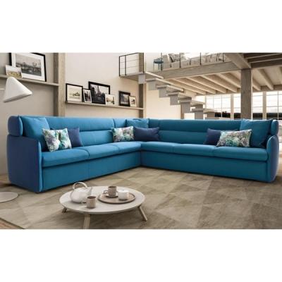 Мека мебел с изцяло сваляща се текстилна тапицерия. Модел Len. Производител - Le Comfort, Италия. Италиански дивани с малка дълб