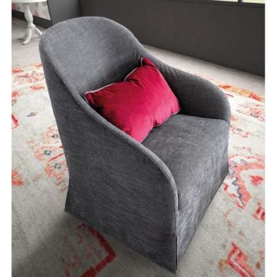 Кресло с текстилна или кожена тапицерия модел Leslie. Производител - Le Comfort, Италия. Модерни италиански дивани и кресла.