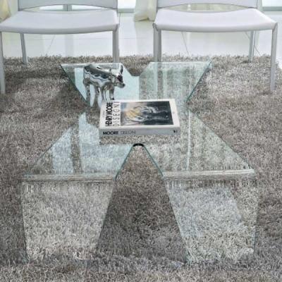 Холна маса мод. Mister X - 10 mm закалено извито стъкло. Производител: Unico Italia, Италия.  Модерни, дизайнерски и интересни м