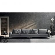 Модерни италиански дивани с кожена тапицерия. Разнообразие от модули - 2-ки, 3-ки, лежанки, ъглови дивани и др. Модел Russel. Le