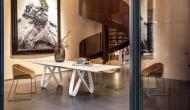 Трапезна маса модел Butterfly. Фиксирана или с механиизъм за разтягане. Tonin casa, Италия. Модерни и дизайнерски италиански меб