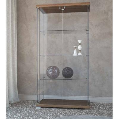 Модерна стъклена витрина с неправилни форми и осветление. Progetto Design. Луксозни италиански мебели от стъкло - витрини, маси,