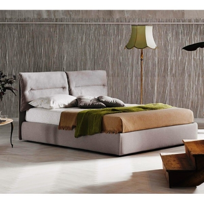 Модерна изцяло тапицирана спалня с контейнер модел Academy. Le Comfort, Италия. Модерни италиански мебели за спалня-легла, спалн