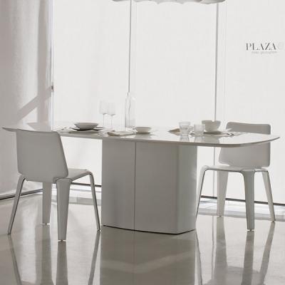 Модерна трапезарна маса мод. Aero. Производител: Pedrali, Италия. Италиански дизайнерски трапезни маси от метал, мдф и стъкло.