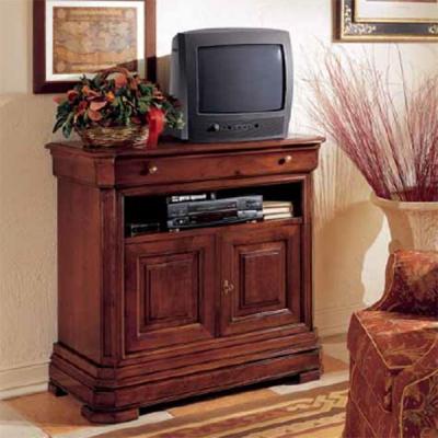 Класически шкаф за телевизор от масив и естествен фурнир мод. Amaranto. Производител: Crema Francesco, Италия. Класически италиа