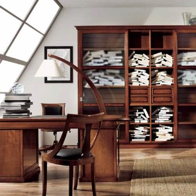 Класически офис мебели от масив и естествен фурнир. Колекция Anemone. Производител: Crema Francesco, Италия. Класически италианс