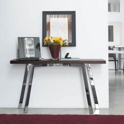 Мод. Ark- конзола с разтягане. Производител: Antonelloitalia, Италия. Модерни италиански конзоли с разтягане, дървен плот и хром