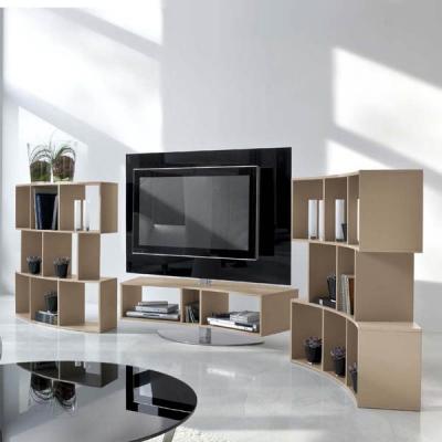 Модерни тв стойки, поставки за телевизори. Материали - естествен фурнир, лакови покрития, стъкло и др.