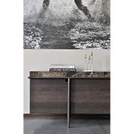 Луксозен скрин за дневна или трапезария. Модел Aura. Arketipo, Италия. Модерни луксозни италиански мебели от масив, фурнир, мрам
