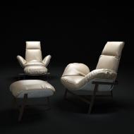 Луксозно, дизайнерско кресло с текстилна или кожена тапицерия модел Jupiter от Arketipo. Италиански луксозни мебели - дивани, кр
