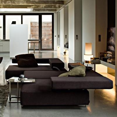Луксозен италиански диван с текстилна или кожена тапицерия мод. Loft. Производител: Arketipo, Италия. Модерна италианска мека ме
