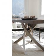 Модерна трапезарна маса, фиксирана или с разтягане, разнообразие от цветове и видове плотове. Модел Artistico. Bontempi, Италия.