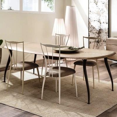 Мод. Arturo - трапезна маса с метални крака и дървен плот. Производител: Cantori, Италия. Луксозни италиански трапезарни маси от