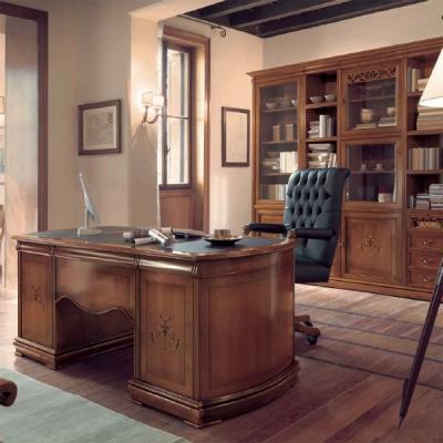 Класически офис мебели от масив и естествен фурнир. Колекция Astro. Производител: Crema Francesco, Италия. Класически италиански