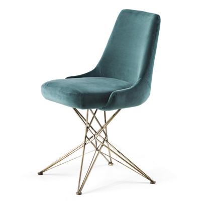 Трапезарен стол и кресло с метални крака, кожена или текстилна тапицерия модел Athena. Производител: Arketipo, Италия. Луксозни