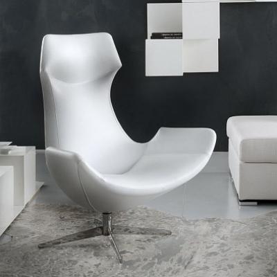 Модерно кожено или с текстил кресло модел Bergerry. Хромирана въртяща се основа. Модерни и дизайнерски луксозни италиански мебел