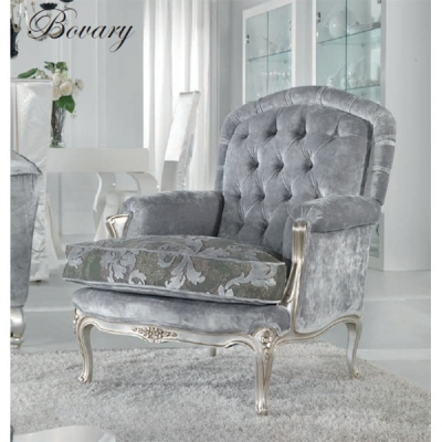 Класическо кресло Mод. Bovary. Производител: Epoque, Италия. Луксозни класически кресла с масив, текстилни, кожени тапицерии и г