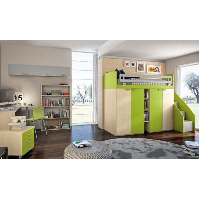 Модерно модулно обзавеждане за детска стая. Колекция Eresem. Colombini, Италия. Италиански мебели за детски стаи - гардероби, ле