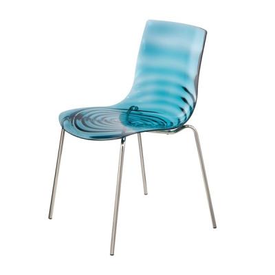 Мод. L'eau, Calligaris. Трапезарен стол- метални крака и технополимер.