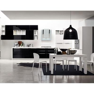 Модерна кухня, врати - полимерно покритие или естествен фурнир. Модерни италиански кухни - масив, естествен фурнир, лак гланц, л