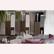 Модерни италиански холни композиции с естествен фурнир, лакови покрития, метал и др. Луксозна италианска корпусна мебел за дневн